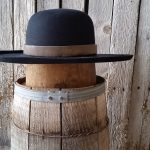 #! Black Boss Leather hat band