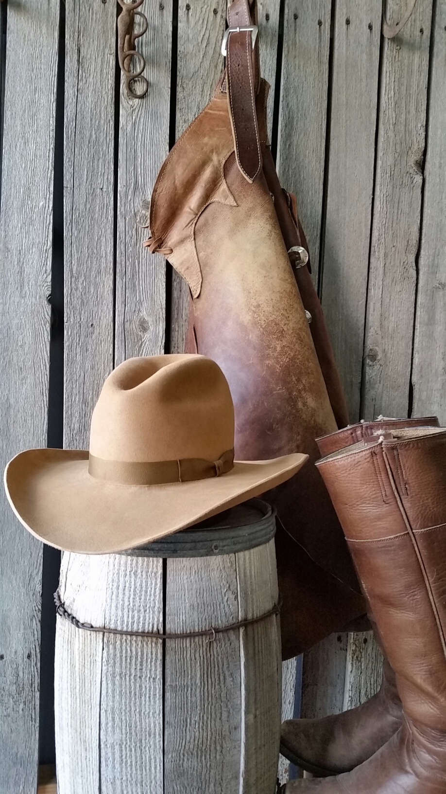 fe9baae6 ... Gus Camel Shads Camel Puncher leather with buckle hat band_crop