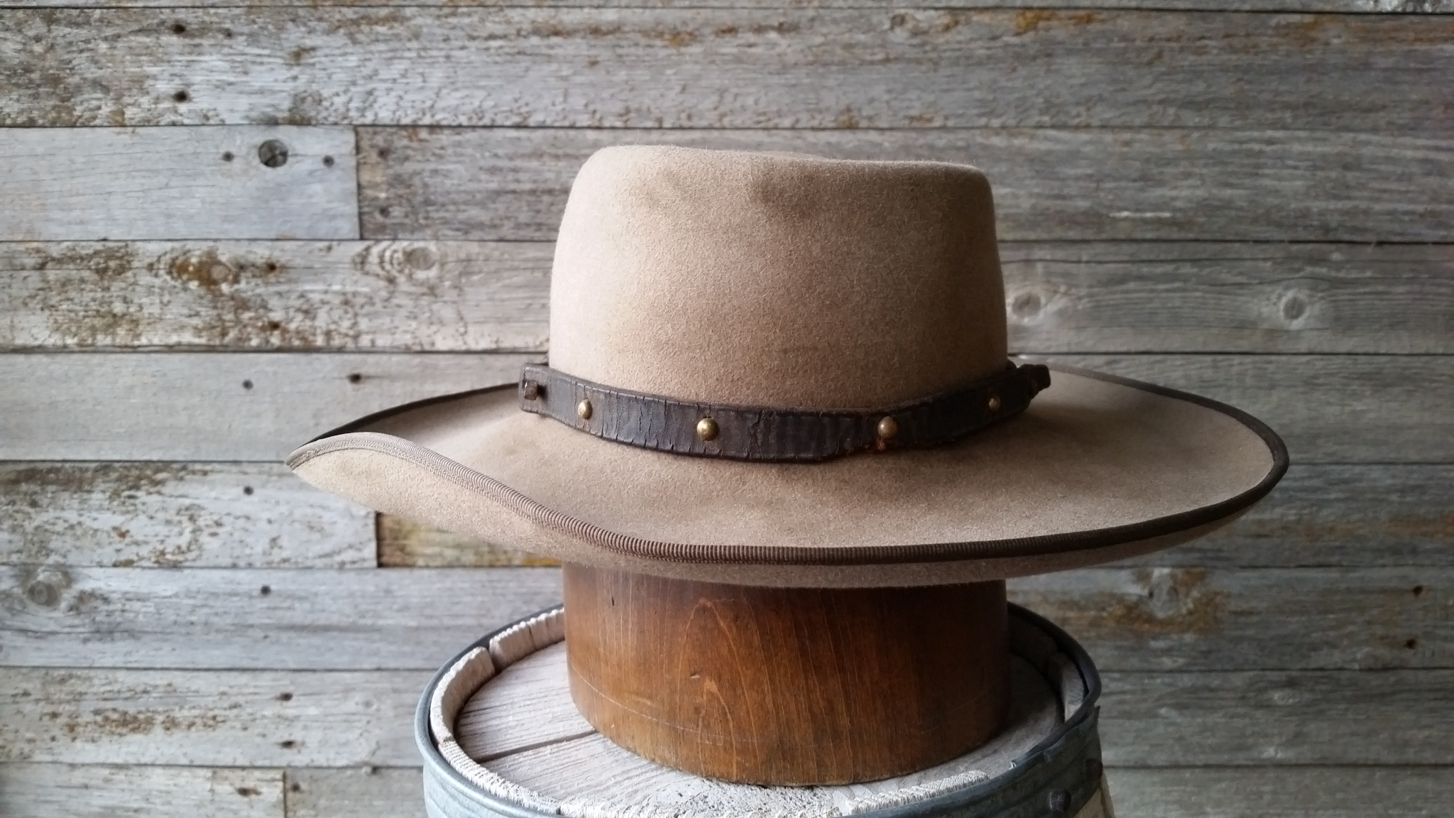If you are looking for old vintage style cowboy hats that look like the  sort of hat that cowboys wore in the 1800s. Then look no further than  Staker Custom ... 6e7ce3840a1